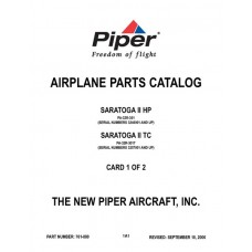 Piper Saratoga II HP PA-32R-301 and Saratoga II TC PA-32R-301T 761-880 Parts Catalog 2006