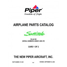 Piper Seminole PA-44-180 761-891 Airplane Parts Catalog 2006