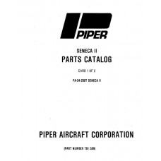 Piper Seneca II PA-34-200T 761-589 Parts Catalog 1975 thru 1983