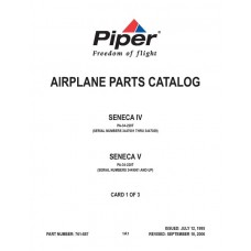 Piper Seneca IV and V PA-34-220T 761-887 Airplane Parts Catalog 1995 thru 2006