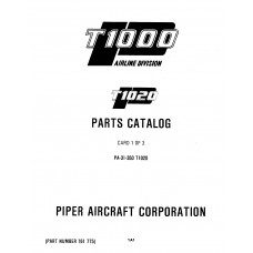 Piper T1020 PA-31-350 761-775 Parts Catalog 1981 thru 2006