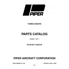 Piper Turbo Dakota PA-28-201T 761-701 Parts Catalog 1979 thru 1995 Revised 2006