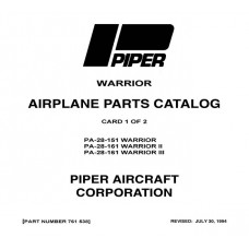 Piper Warrior ll PA-28-161 761-538 Parts Catalog 1989 Revised 1994