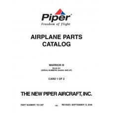 Piper Warrior III PA-28-161 761-897 Airplane Parts Catalog 2006