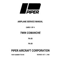 Piper Twin Comanche PA-30 and PA-39 753-645 Shop Service Manual 1963 thru 1998