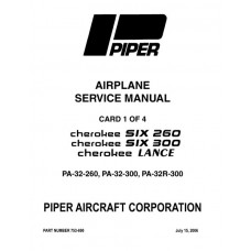 Piper Cherokee Six 260 753-690 Shop Service Manual 1965 thru 2006