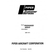 Piper Navajo PA-31P Pressurized 753-770 Shop Service Manual 1972 thru 1998