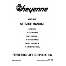 Piper Cheyenne IA PA-31T1 753-826 Shop Service Manual 1973 thru 1997