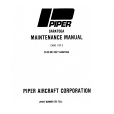 Piper Saratoga PA-32-301 and 301T 761-721 Service Maintenance Manual 1980 thru 1987