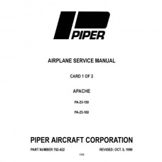 Piper Apache PA-23-150 and PA-23-160 752-422 Shop Service Manual 1999