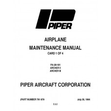 Piper Archer II PA-28-181 761-679 Service Maintenance Manual 1994