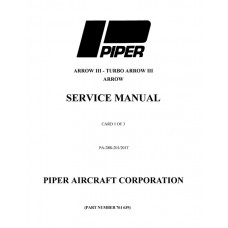 Piper Cherokee Arrow III PA-28R-201, 201T 761-639 Shop Service Manual 1976 thru 2004