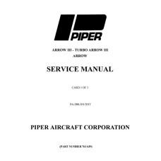 Piper Turbo Arrow III PA-28R-201, 201T 761-639 Shop Service Manual 1976 thru 2004