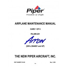Piper Arrow PA-28R-201 761-895 Airplane Service Maintenance Manual 2006