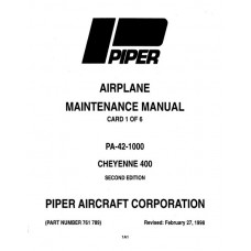 Piper Cheyenne 400 PA-42-1000 761-789 Service Maintenance Manual 1985 thru 1998