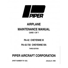 Piper Cheyenne IIIA PA-42-720 761-523 Service Maintenance Manual 1979 thru 1998