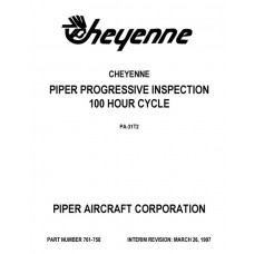 Piper Cheyenne PA-31T2 Progressive Inspection 100 hour Cycle Manual 761-758