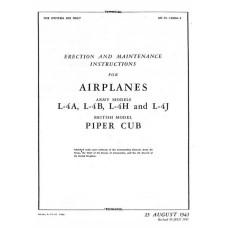 Piper Cub and L-4A, L-4B, L-4H and L-4J Airplanes Erection and Maintenance Manual