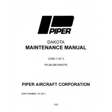 Piper Dakota PA-28-236 761-681 Service Maintenance Manual 1995