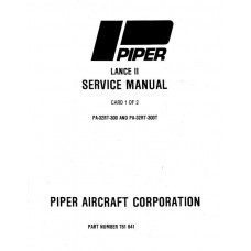 Piper Lance II PA-32RT-300, 300T 761-641 Shop Service Manual 1978 thru 1986