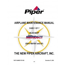 Piper Malibu Meridian PA-46-500TP 767-005 Airplane Service Maintenance Manual 2004