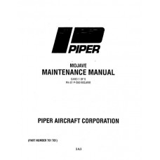 Piper Mojave PA-31P-350 761-781 Service Maintenance Manual 1983 thru 1985