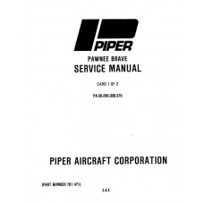 Piper Pawnee Brave PA-36 761-471 Shop Service Manual 1973 thru 1989