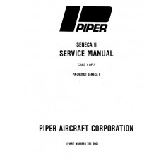 Piper Seneca II PA-34-200T 761-590 Shop Service Manual 1979 thru 1997