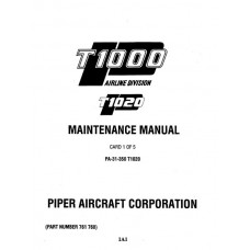 Piper T1020 PA-31-350 761-768 Service Maintenance Manual 1981 thru 1994