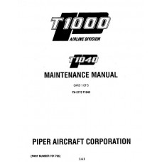 Piper T1040 PA-31T3 761-765 Service Maintenance Manual 1982 thru 1994