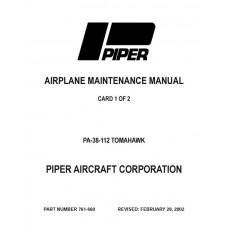 Piper Tomahawk PA-38-112 761-660 Shop Service Manual 1977 thru 2002