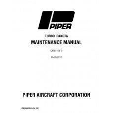 Piper Turbo Dakota PA-28-201T 761-702 Service Maintenance Manual