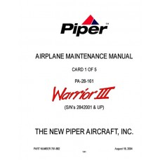 Piper Warrior III PA-28-161 761-882 Airplane Service Maintenance Manual 2004